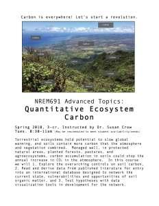 NREM691 Quant Ecosystem Carbon